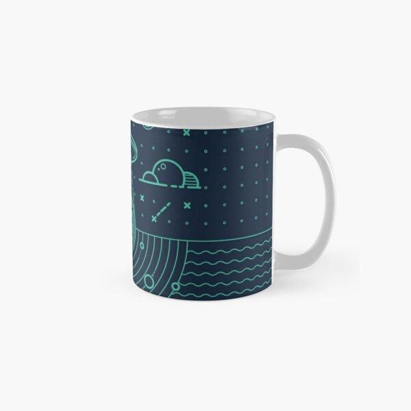 Ufo in dark night.  Classic Mug
