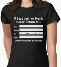 If Lost and / or Drunk Please Return to Women's Fitted T-Shirt