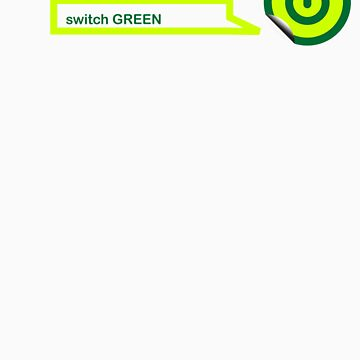 SWITCH GREEN Peel sticker by web101
