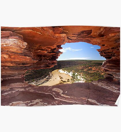 Peaking Through Natures Window  Poster