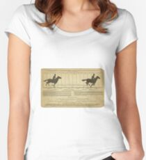 Eadweard Muybridge – 1830-1904 – Animal Locomotion Theory – Horse Poster - White Women's Fitted Scoop T-Shirt