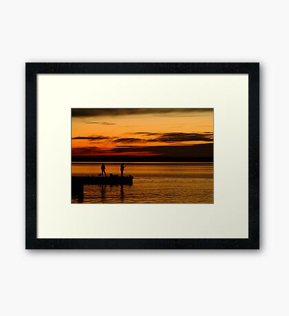 Not Happy! Swan Bay Queenscliff Framed Print