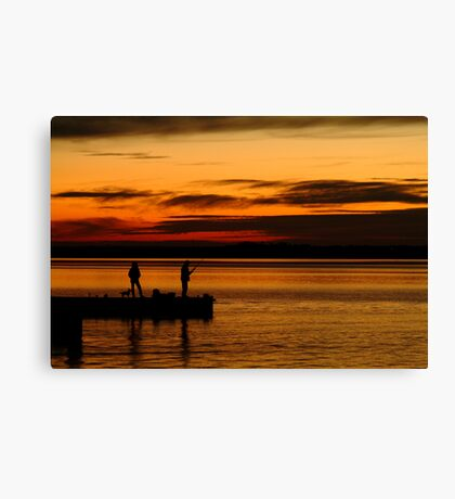 Not Happy! Swan Bay Queenscliff Canvas Print