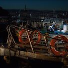 Fisherman Cleaning His Boat in Gosan Village, jeju Island by koreanrooftop