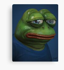 'Sad Pepe', 3d Pepe Painting Canvas Print