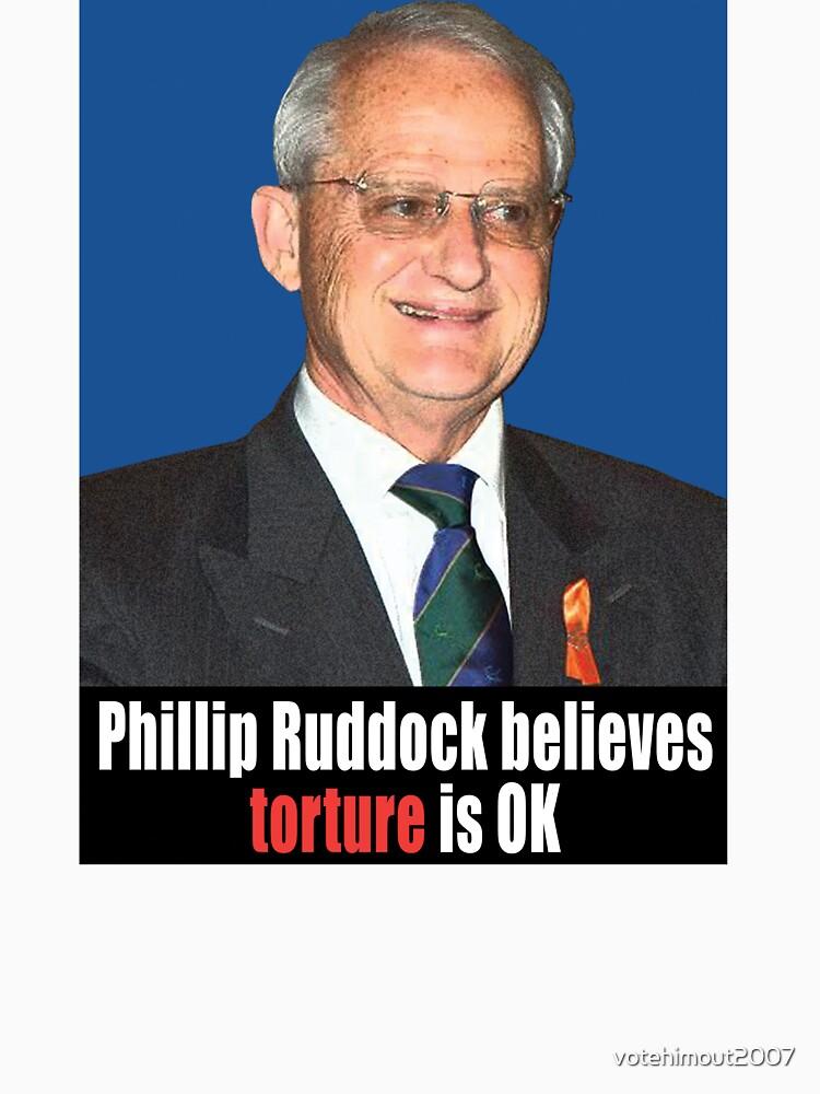 Phillip Ruddock believes torture is OK by votehimout2007