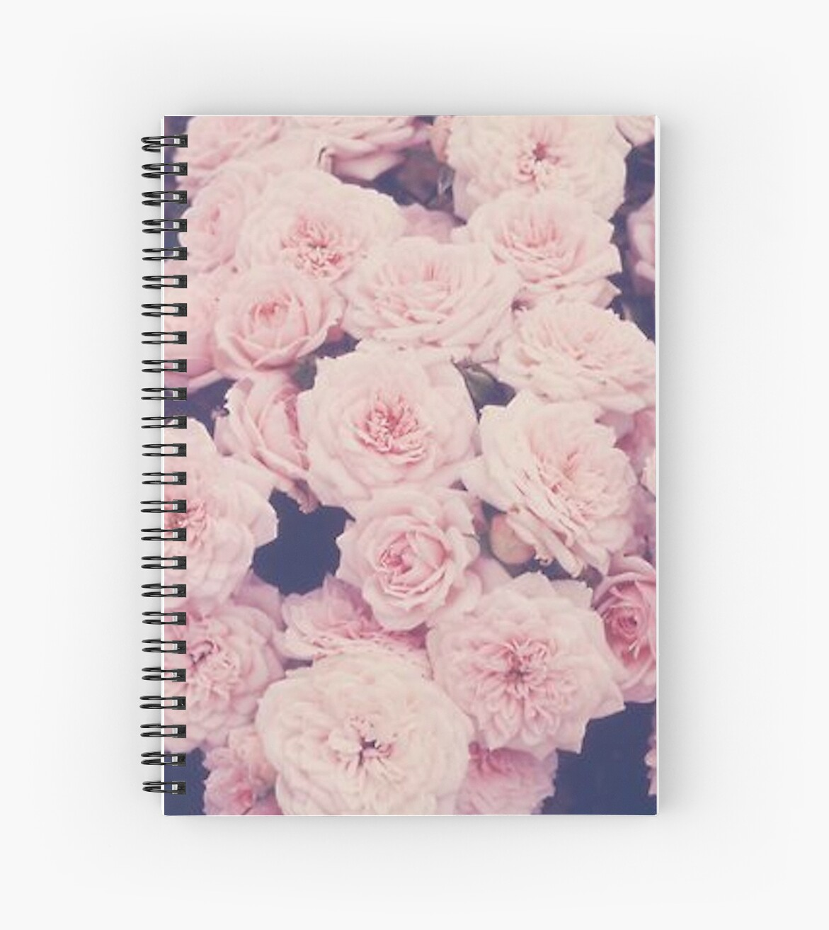 pink tumblr roses spiral notebooks by ellelouise101 redbubble