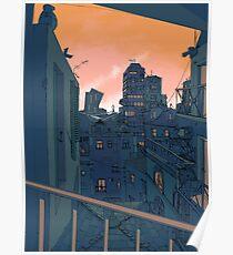 Stadtbild am Abend Poster