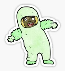 cartoon man in protective clothing Sticker