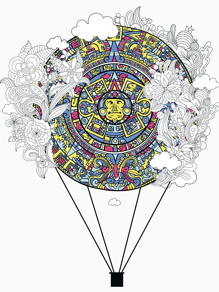Mayan zodiac circle teeshirt by Stylishfashion