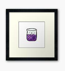 cartoon chemicals Framed Print