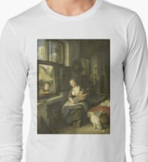 Cornelis Dusart - A Mother With Her Children T-Shirt
