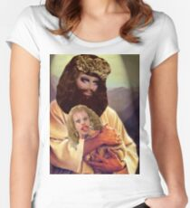 Drag Jesus Trixie with a Katya Lamb Women's Fitted Scoop T-Shirt