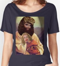 Drag Jesus Trixie with a Katya Lamb Women's Relaxed Fit T-Shirt