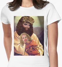 Drag Jesus Trixie with a Katya Lamb Womens Fitted T-Shirt