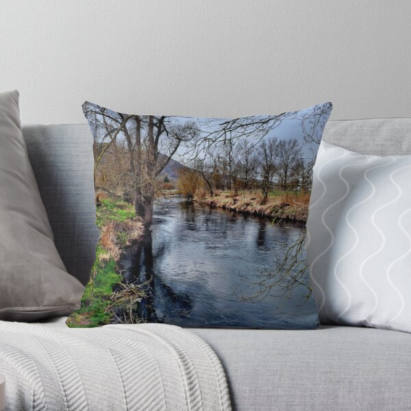 Winter am Fluss 1 Dekokissen