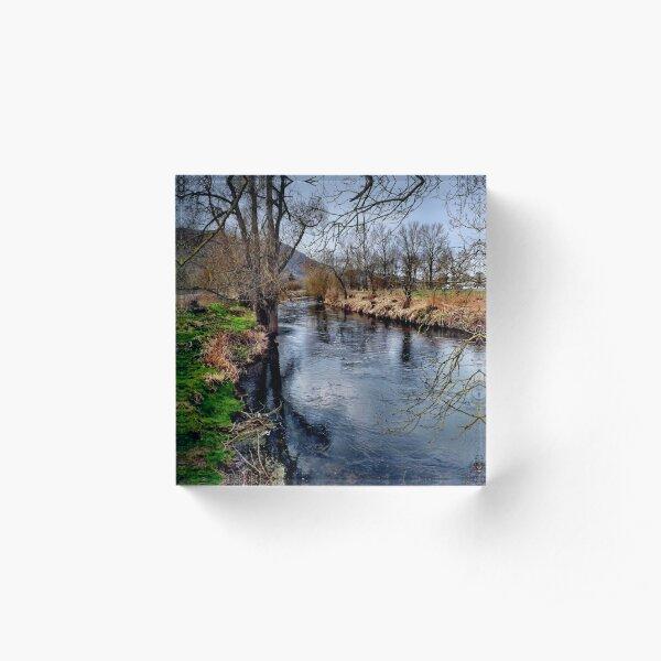 Winter am Fluss 1 Acrylblock
