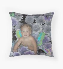 Garden Fairy Throw Pillow