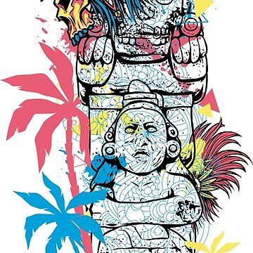 Native Americans totems pole teeshirt by Stylishfashion