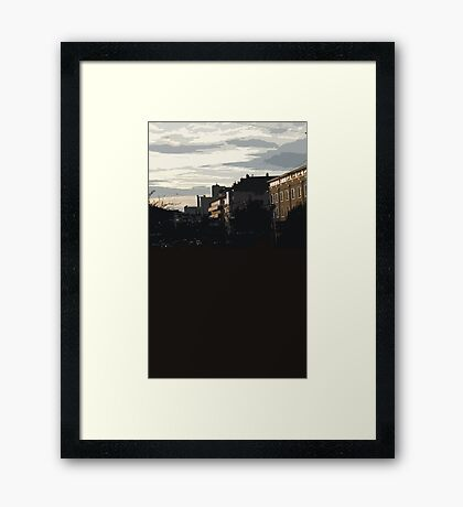 shadowy sunset Framed Print
