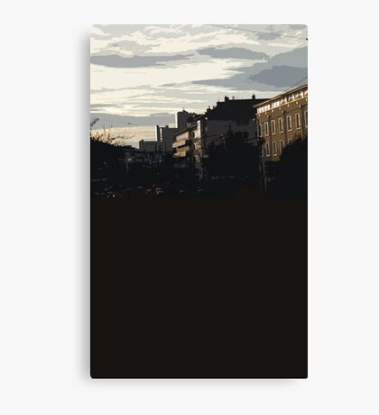 shadowy sunset Canvas Print