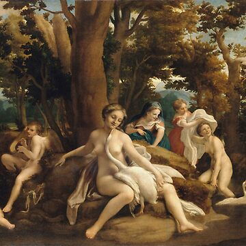 Correggio - Leda And The Swan by artcenter