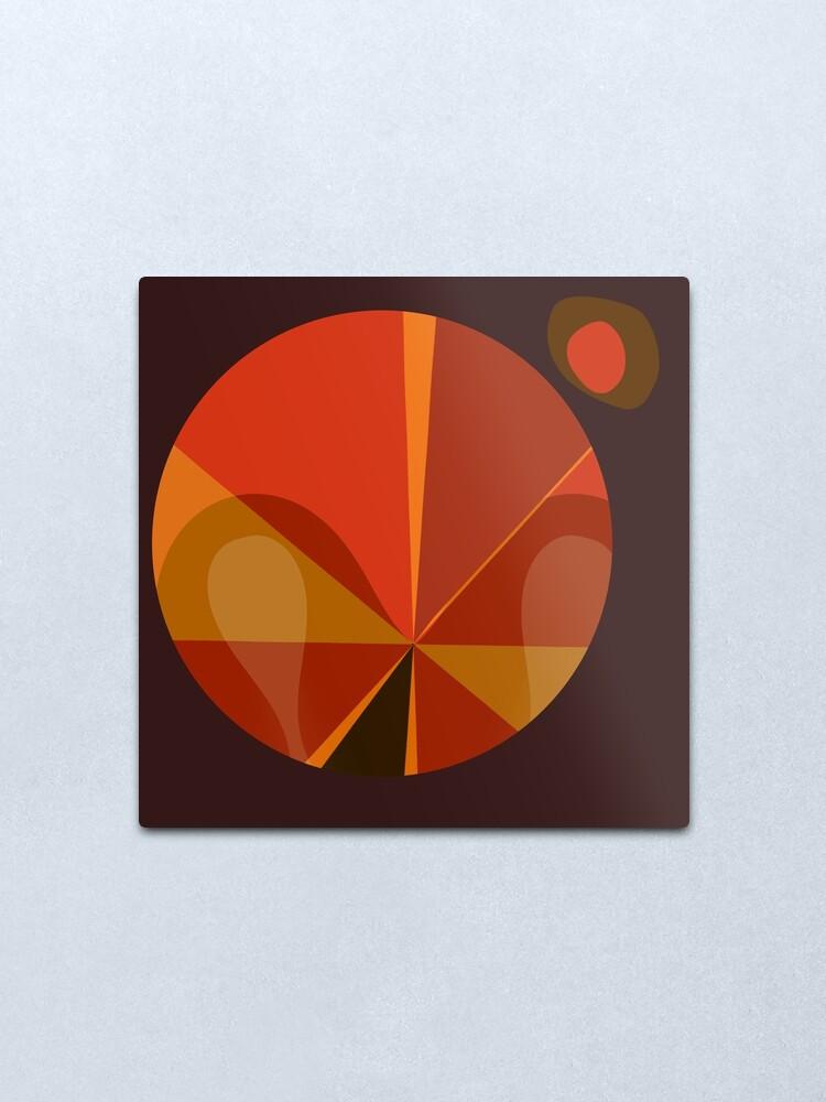 Alternate view of Orange Mod Pod Design Metal Print
