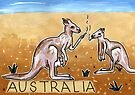 Greetings From Australia - Kangaroo by John Douglas