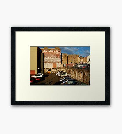 Back Alley Parking Framed Print