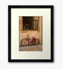 Parisan Bicycle Framed Print