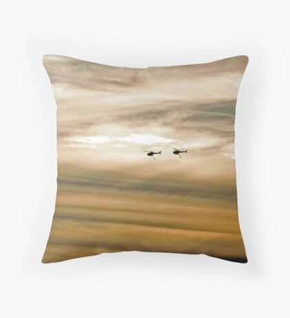 Helitankers At Sunset  Throw Pillow