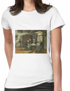 David Adolph Constant Artz - In The Orphanage At Katwijk-Binnen Womens Fitted T-Shirt