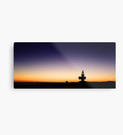 North Mole Lighthouse At Dusk  Metal Print