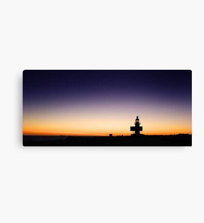 North Mole Lighthouse At Dusk  Canvas Print