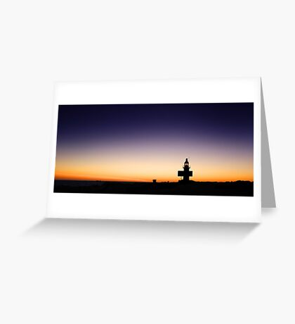 North Mole Lighthouse At Dusk  Greeting Card