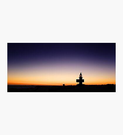North Mole Lighthouse At Dusk  Photographic Print