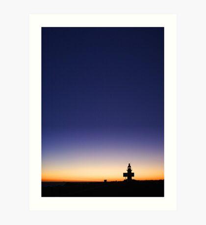 North Mole Lighthouse At Dusk  Art Print