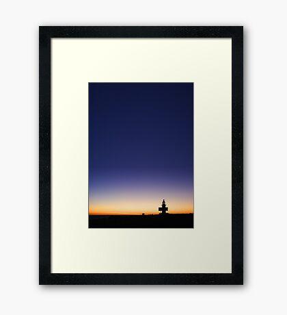 North Mole Lighthouse At Dusk  Framed Print