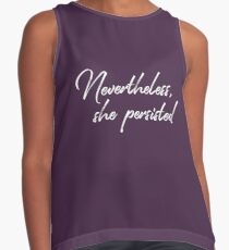 Nevertheless, she persisted Contrast Tank