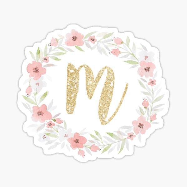 Glitter M Sticker