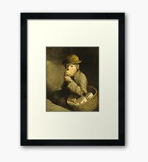 David Gilmour Blythe - A Match Seller Framed Print