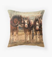 Six On The Hitch Throw Pillow