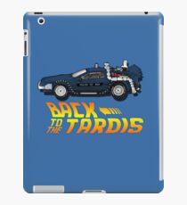Nerd things - tardis delorean mash up iPad Case/Skin