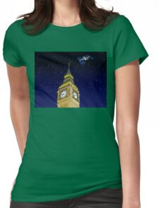 The ISS over the Big Ben Womens Fitted T-Shirt