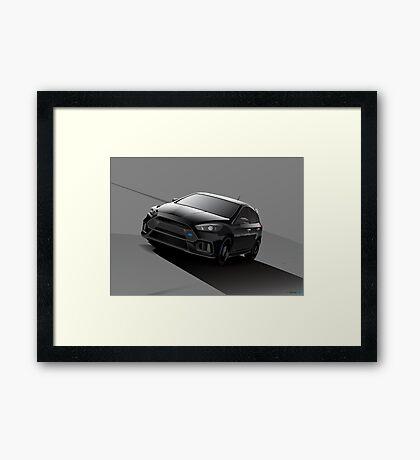 Black Focus RS Framed Print
