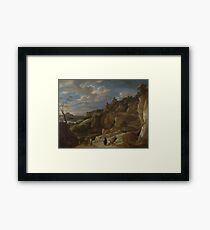 David Teniers The Younger - A Gipsy Fortune Teller In A Hilly Landscape Framed Print