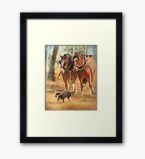 Getting The Job Done ! Framed Print