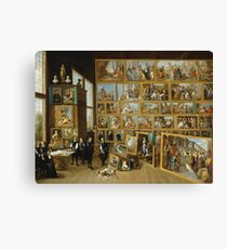 David Teniers The Younger - Archduke Leopold William In His Gallery At Brussels1650 - 1652 Canvas Print