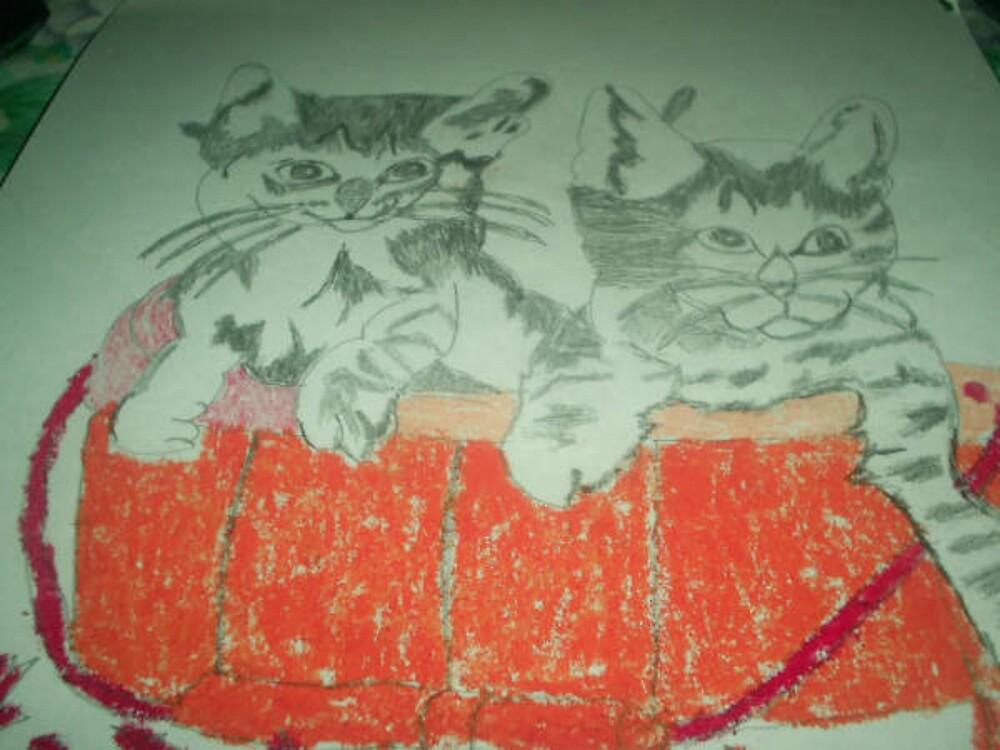 kittens in basket by oilersfan11