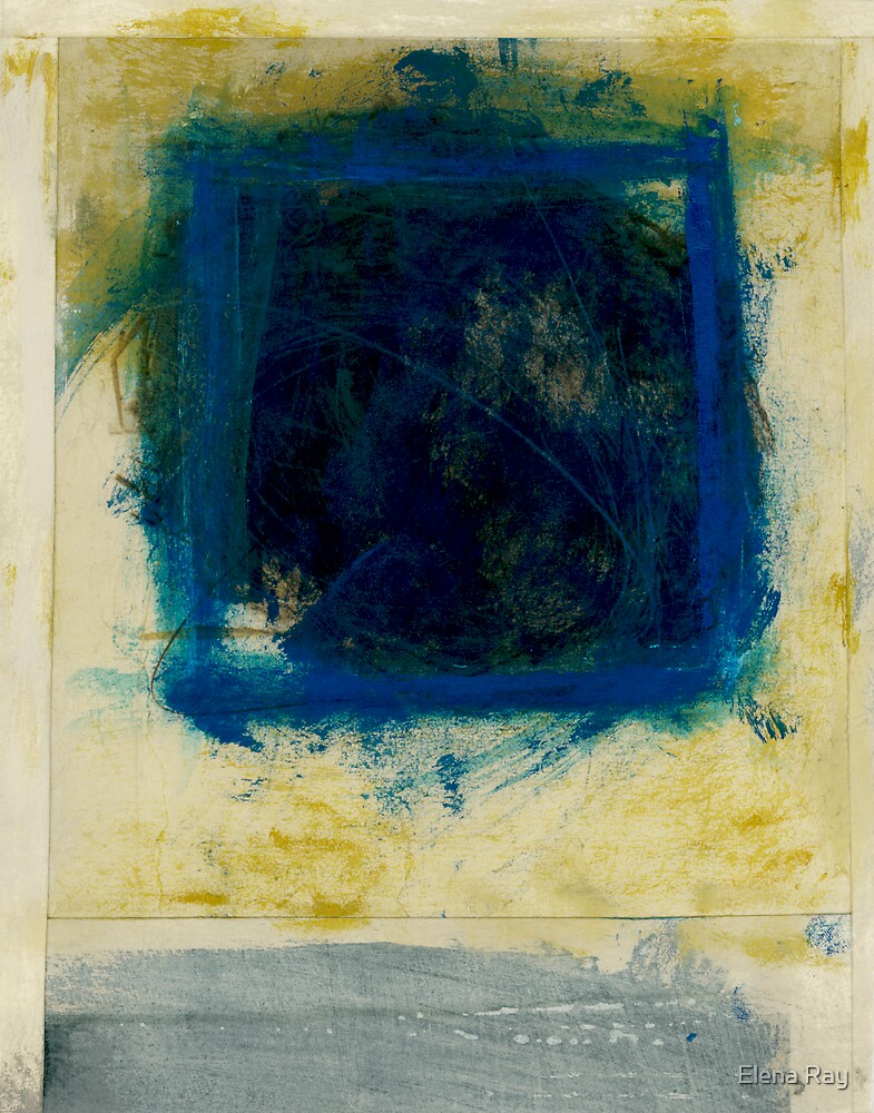 Abstract Blue Square by Elena Ray